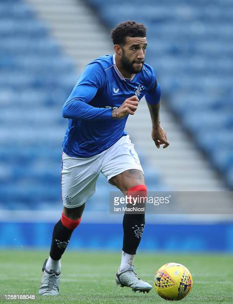 Connor Goldson of Rangers is seen in action during the pre season friendly match between Rangers and Coventry City at Ibrox Stadium on July 25 2020...