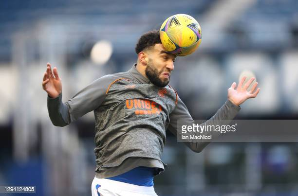 Connor Goldson of Rangers warms up prior to the Ladbrokes Scottish Premiership match between Rangers and Celtic at Ibrox Stadium on January 02, 2021...