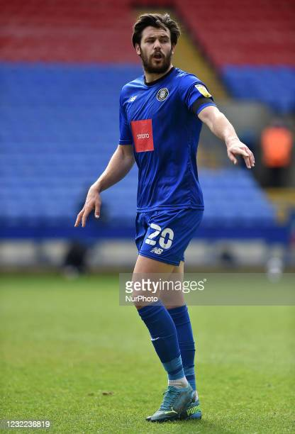 Connor Hall of Harrogate Town during the Sky Bet League 2 match between Bolton Wanderers and Harrogate Town at the Reebok Stadium, Bolton, England on...