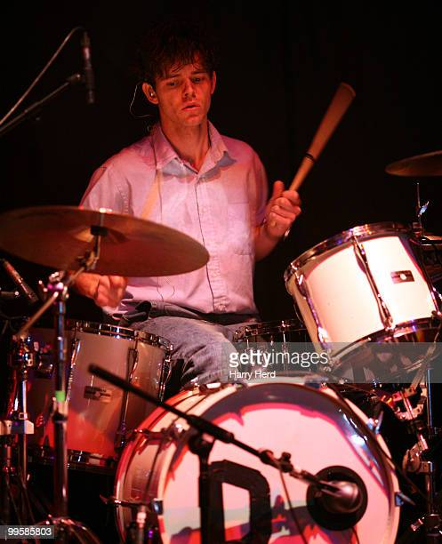 Connor Hanwick of The Drums performs on stage at Hammersmith Apollo, London on May 15, 2010 in Southampton, England.