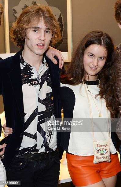 Connor Hirst and Amba Jackson attend the launch of the new 'Jade Jagger' New Bond Street showroom on May 6 2014 in London England