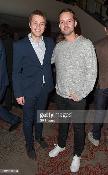 Connor Jessup and Kevan Funk attend Canada's 150th Anniversary in Pictures at Elgin and Winter Garden Theatre Centre on January 26 2017 in Toronto...