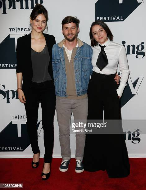 Connor Leslie Joshua Thurston and Zelda Williams attend the Fall Pilot Season of 'Shrimp' during the 2018 Tribeca TV Festival at Spring Studios on...