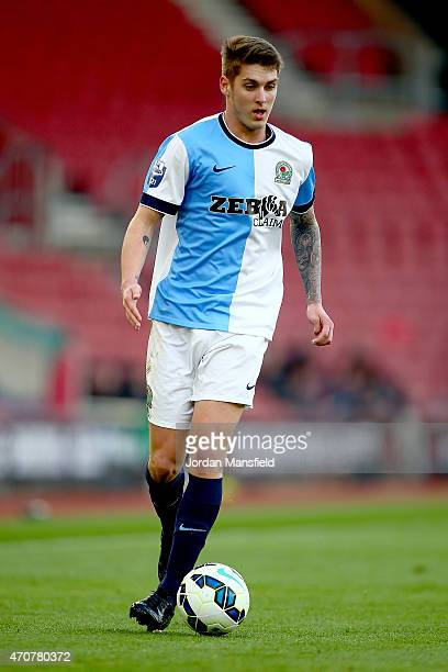Connor Mahoney of Blackburn controls the ball during the Under 21 Premier League Cup Final Second Leg match between Southampton and Blackburn Rovers...