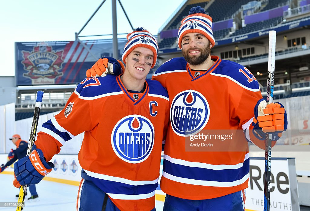 2016 Tim Hortons NHL Heritage Classic - Practice Day : News Photo