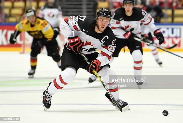 Connor McDavid of Team Canada during the IIHF World Championship game between Canada and Germany at Jyske Bank Boxen Arena on May 15 2018 in Herning...