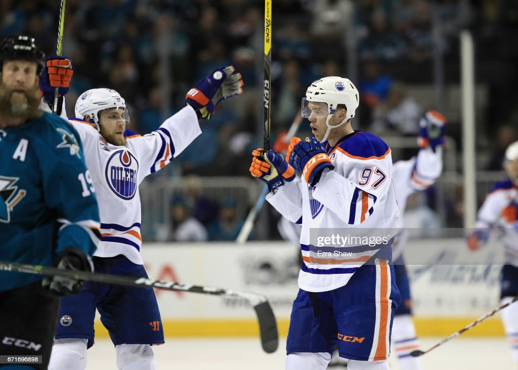 Edmonton Oilers v San Jose Sharks - Game Six : News Photo