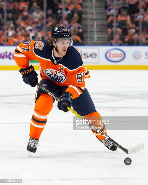 Connor McDavid of the Edmonton Oilers skates against the Minnesota Wild at Rogers Place on October 30 2018 in Edmonton Alberta Canada