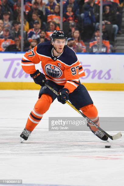 Connor McDavid of the Edmonton Oilers skates during the game against the Dallas Stars on November 16 at Rogers Place in Edmonton Alberta Canada