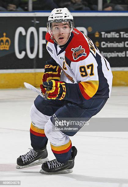 Connor McDavid of the Erie Otters skates against the London Knights during Game Three of the OHL Western Conference SemiFinal at Budweiser Gardens on...
