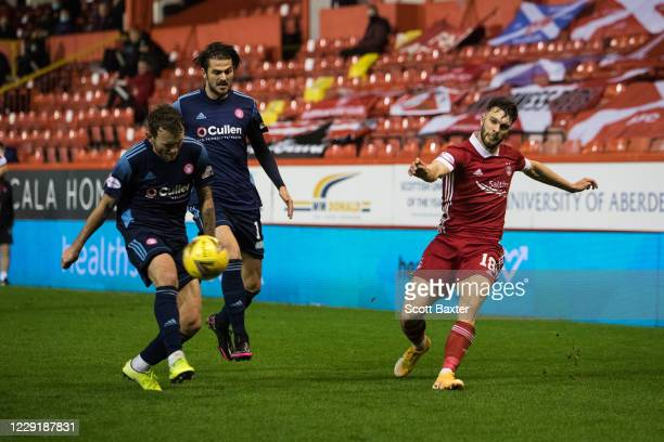 Connor McLennan of Aberdeen during the Ladbrokes Premiership match between Aberdeen and Hamilton at Pittodrie Stadium on October 20 2020 in Aberdeen...