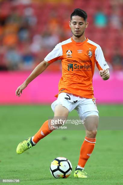 Connor O'Toole of the Roar controls the ball during the round 11 ALeague match between the Brisbane Roar and the Melbourne Victory at Suncorp Stadium...