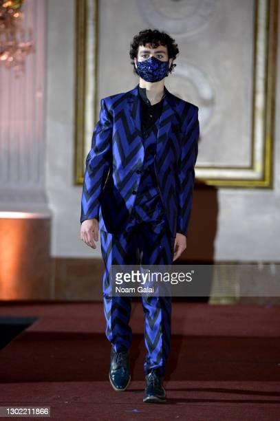 Connor Raney walks the runway for the NYFW hiTechMODA Spotlight on the New Era of Fashion - FIGOS Shoe Designer With Fashion Designer Ricardo...