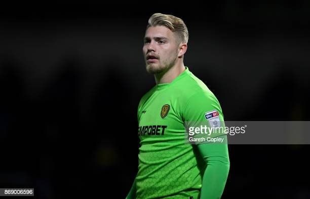 Connor Ripley of Burton during the Sky Bet Championship match between Burton Albion and Barnsley at Pirelli Stadium on October 31 2017 in...