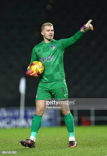 Connor Ripley of Oldham Athletic in action during the Sky Bet League One match between Milton Keynes Dons and Oldham Athletic at StadiumMK on...