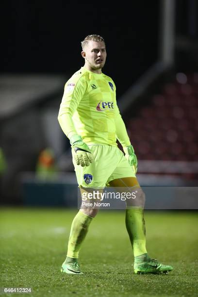 Connor Ripley of Oldham Athletic in action during the Sky Bet League One match between Northampton Town and Oldham Athletic at Sixfields on February...