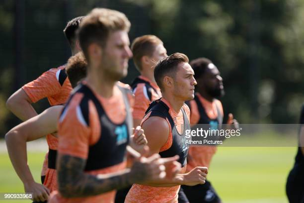 Connor Roberts during the Swansea City Training Session at The Fairwood Training Ground on July 03 2018 in Swansea Wales