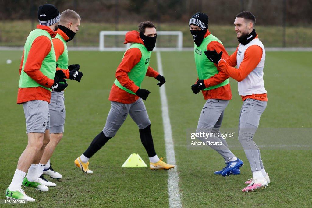 Swansea City Training Session : News Photo