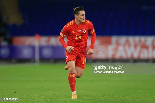 Connor Roberts of Wales in action during the UEFA Nations League group stage match between Wales and Finland at Cardiff City Stadium on November 18,...
