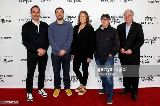 Connor Schell Ezra Edelman Marina Zenovich Alex Gibney and Chris Connelly attend the Tribeca Talks 10 Years Of 30 For 30 at SVA Theater on May 05...
