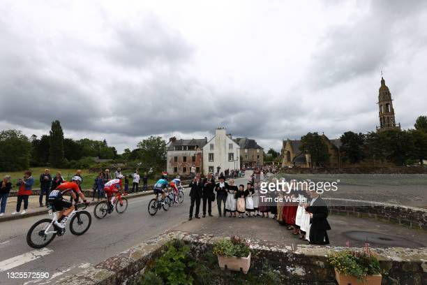 Connor Swift of The United Kingdom and Team Arkéa Samsic, Anthony Perez of France and Team Cofidis, Ide Schelling of The Netherlands and Team BORA -...