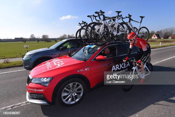 Connor Swift of United Kingdom and Team Arkea - Samsic during the 73rd Kuurne - Bruxelles - Kuurne 2021 a 197km race from Kuurne to Kuurne / Feeding...