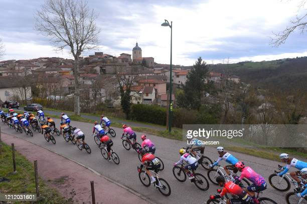 Connor Swift of United Kingdom and Team Arkea Samsic / Michael Woods of Canada and Team Ef Education First / Sergio Andres Higuita of Colombia and...