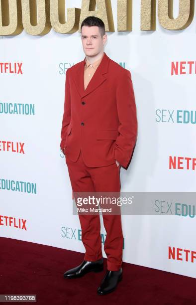"""Connor Swindells attends the """"Sex Education"""" Season 2 World Premiere at Genesis Cinema on January 08, 2020 in London, England."""