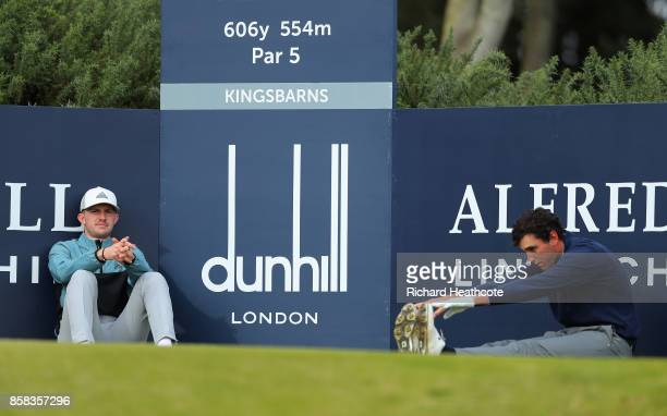 Connor Syme of Scotland and Renato Paratore of Italy in action during day two of the 2017 Alfred Dunhill Championship at Kingsbarns on October 6 2017...