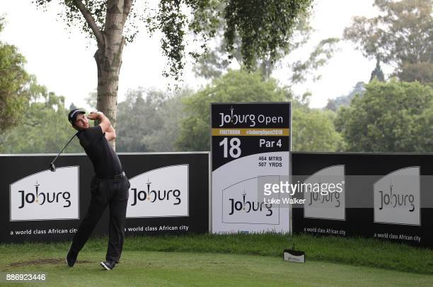 Connor Syme of Scotland plays a shot ahead of the Joburg Open at Randpark Golf Club on December 6 2017 in Johannesburg South Africa