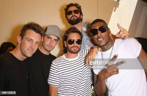 Connor Treacy Cooper Mount television personality Scott Disick television personality Brody Jenner and recording artist Everybody Knows LO celebrate...