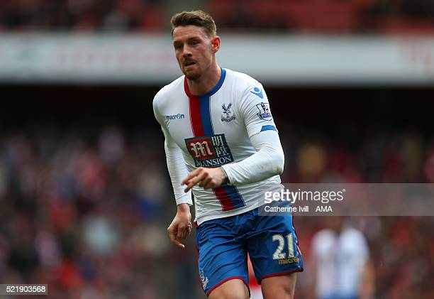Connor Wickham of Crystal Palace during the Barclays Premier League match between Arsenal and Crystal Palace at the Emirates Stadium on April 17 2016...