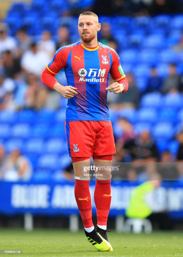 Connor Wickham of Crystal Palace during the Pre-Season Friendly between Reading and Crystal Palace at Madejski Stadium on July 28, 2018 in Reading, England.