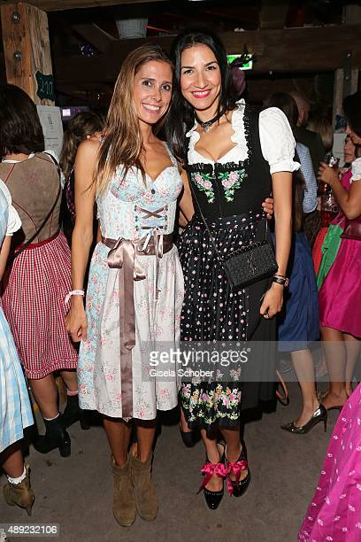 Conny Lehmann and guest during the Oktoberfest 2015 Opening at Kaeferschaenke beer tent at Theresienwiese on September 19, 2015 in Munich, Germany.