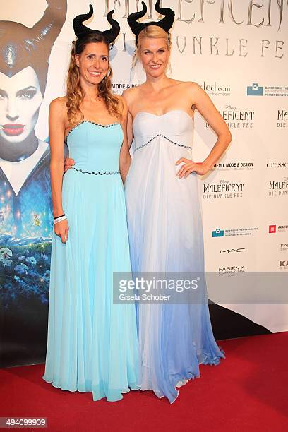 Conny Lehmann and Natascha Gruen attend the Fashion Meets Movie gala screening of Maleficent at Gloria Palast on May 27 2014 in Munich Germany