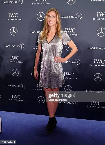 Conny Lehmann attends the Laureus Sport for Good Night 2015 at Grand Hyatt Hotel on November 11, 2015 in Berlin, Germany.