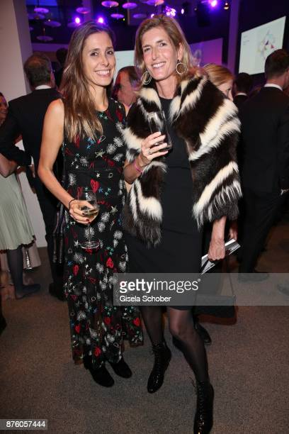 Conny Lehmann, Ulrike zu Salm-Salm during the PIN Party 'Let's party 4 art' at Pinakothek der Moderne on November 18, 2017 in Munich, Germany.