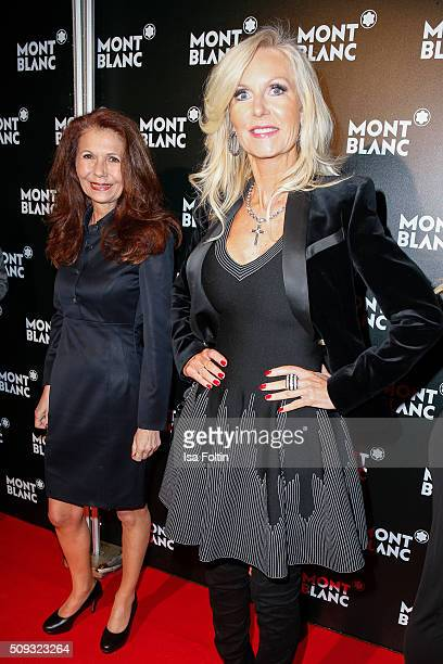 Conny Modauer and Marion Vedder attend the Montblanc House Opening on February 09 2016 in Hamburg Germany