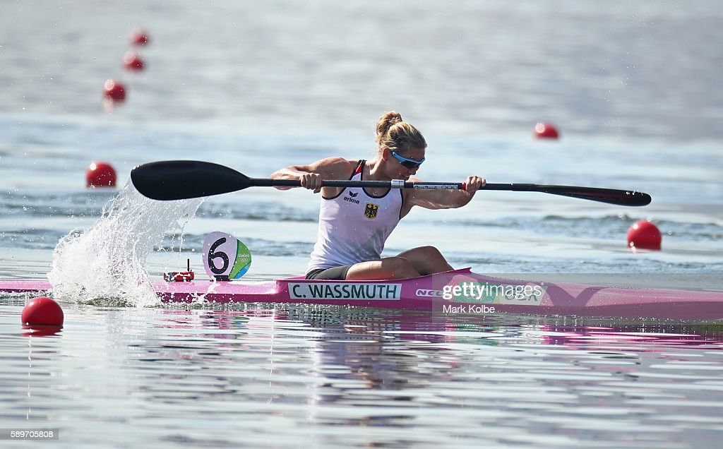 Conny Wassmuth Of Germany Competes In The Womens Kayak Single 200m Heat 4 On Day 10
