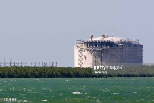 ConocoPhillips' liquefied natural gas plant stands in Darwin Australia on Wednesday April 11 2012 Darwin is in the express lane of Australia's...