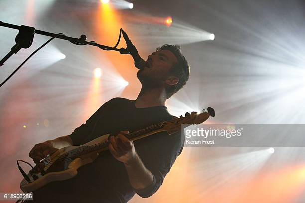 Conor Adams of All Tvvins perform at Olympia Theatre on October 28, 2016 in Dublin, Ireland.