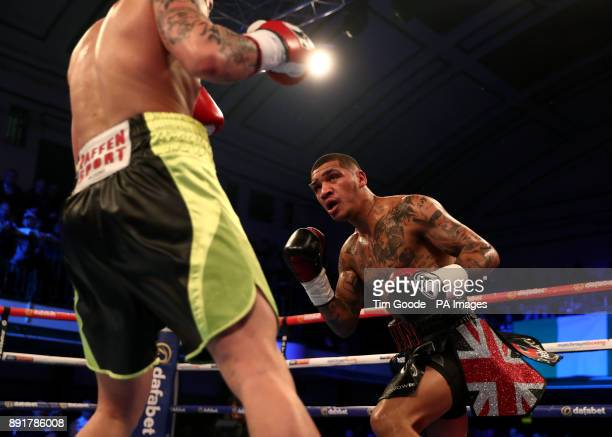 Conor Benn and Cedrick Peynaud in the Welterweight contest at York Hall London