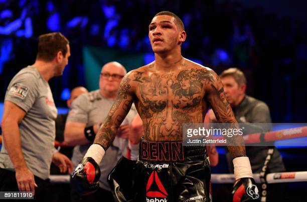 Conor Benn during his coat with Cedrick Peynaud during there Welterweight Contest at York Hall on December 13 2017 in London England