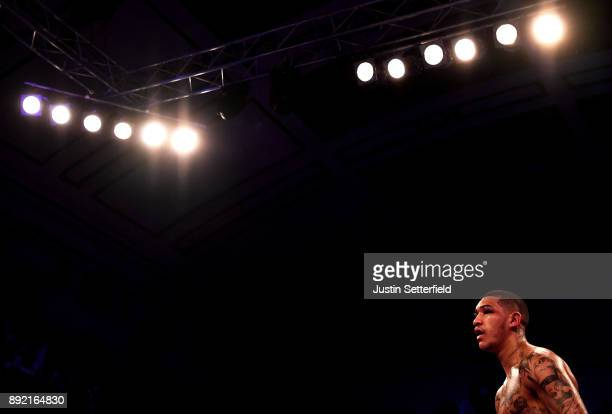 Conor Benn looks on against Cedrick Peynaud during his Welterweight Contest at York Hall on December 13 2017 in London England