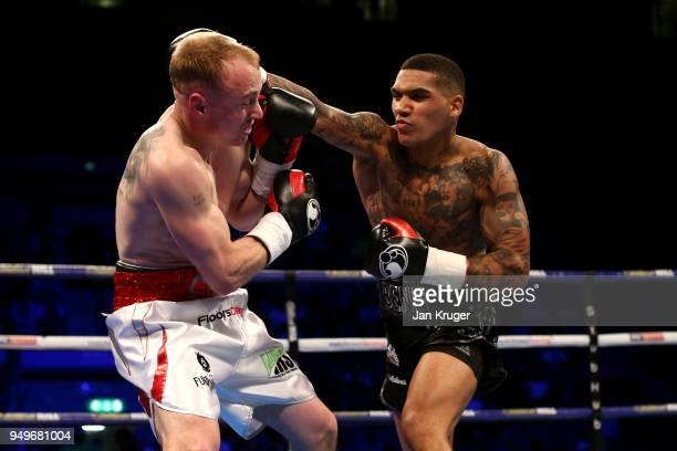 Conor Benn of England in action during his Wetlerweight bout against Chris Truman of England during the undercard of Amir Khan v Phil Lo Greco at...