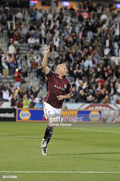 Conor Casey of the Colorado Rapids celebrates his goal against Real Salt Lake on October 25, 2008 at Dicks Sporting Goods Park in Commerce City,...