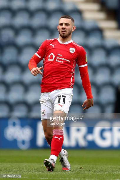 Conor Chaplin of Barnsley during the Sky Bet Championship match between Preston North End and Barnsley at Deepdale on May 01, 2021 in Preston,...