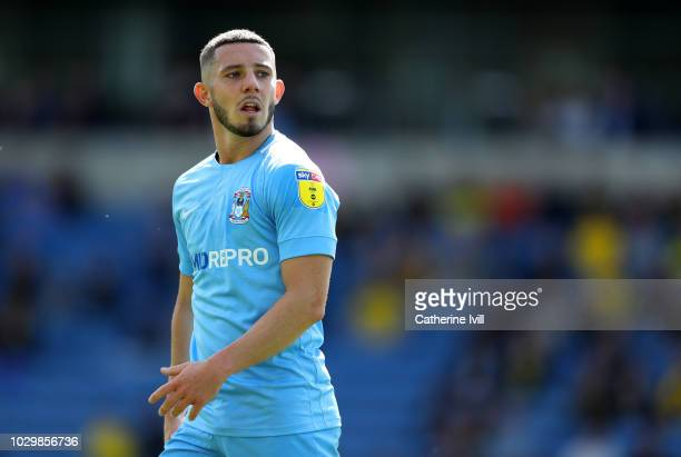 Conor Chaplin of Coventry City during the Sky Bet League One match between Oxford United and Coventry City at Kassam Stadium on September 9 2018 in...