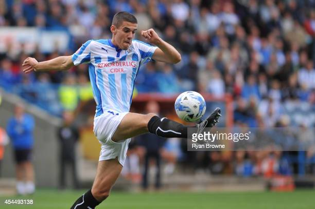 Conor Coady of Huddersfield during Sky Bet Championship match between Huddersfield Town and Charlton Athletic at Galpharm Stadium on August 23 2014...