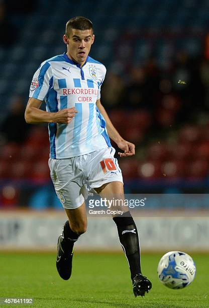 Conor Coady of Huddersfield during the Sky Bet Championship match between Huddersfield Town and Brighton Hove Albion at Galpharm Stadium on October...